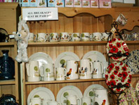 Chintz selection including hanging plates