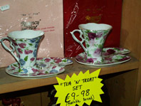 Tea and treat chintz novelty item, click on image to enlarge