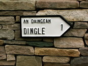 Dingle 1 mile road sign