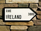 Ireland 3000 miles road sign