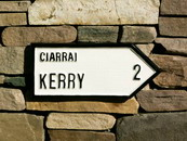 Kerry 1 mile road sign