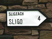 Sligo Irish road sign