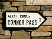 Connor Pass 1 mile road sign