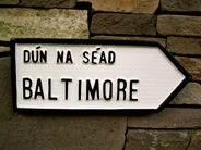 Irish Road Sign - Baltimore