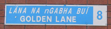 Golden Lane wall sign