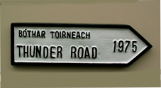 Irish style road sign to mark 1975 Bruce springstein concert