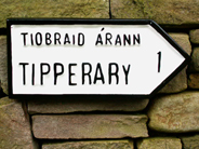 Irish road sign tipperary
