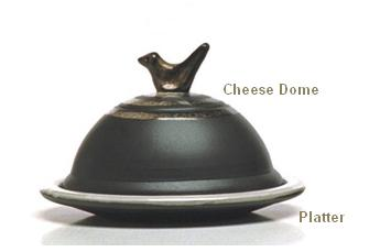 Pottery Stephen Pearce Shanagarry Cheese Dome and Platter