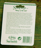 Saint Brigid's cross, ceramic. Story on back of card. Click to enlarge