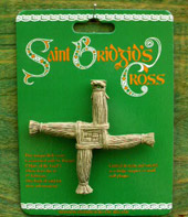 Ceramic Saint Brigid's cross, click on image to enlarge.