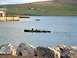 Traditional Currach in Action In Dingle Harbour