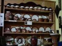 Stephen Pearce pottery on Dresser in cois farraige, Dingle