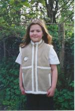 Sheep Embroidered Kids Gilet At Coisfarraige