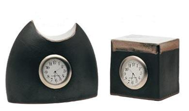 Pottery Stephen Pearce Shanagarry Moon and Cube Clock
